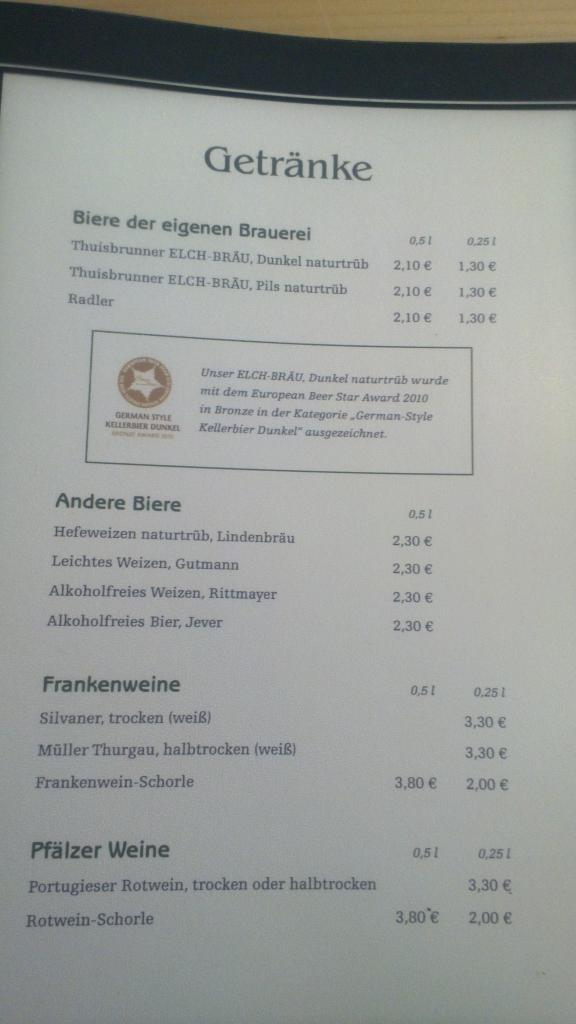 to drink all the (very affordable) beers ...